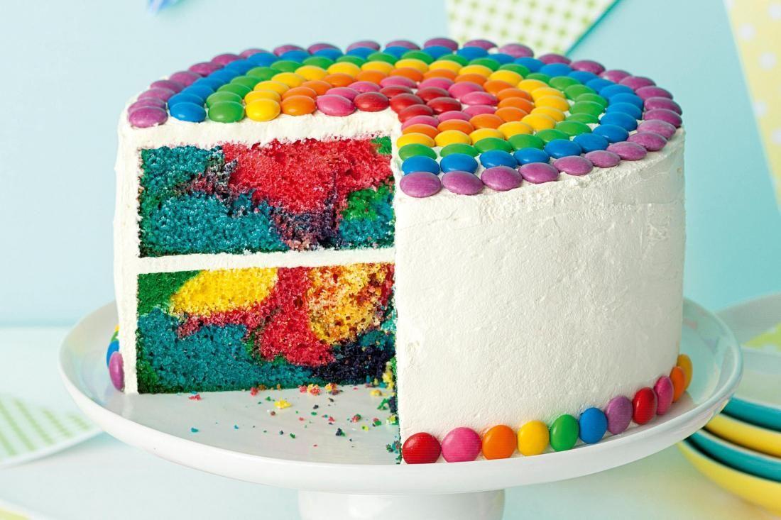 Торт Радуга с пищевыми красителями
